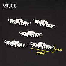 SMJEL – breloques en forme d'éléphant, en acier inoxydable, pour collier, faire des cadeaux de famille