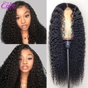 Image 3 - סלי שיער מתולתל שיער טבעי פאות קינקי מתולתל פאת מראש קטף עם תינוק שיער תחרה קדמי שיער טבעי פאה 13X6 מתולתל פאה