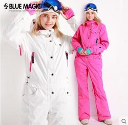 Bleu magique nouveau hiver snowboard kombez ski veste et pantalon ski costumes femmes combinaison femmes snowboard imperméable à l'eau dans l'ensemble russie