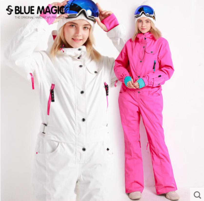 Blue magic new winter snowboard kombez ski jacket and pant ski suits females jumpsuit women snowboard