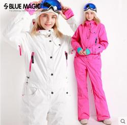 Novedad en chaqueta y pantalón de esquí de kombez de snowboard azul mágico, trajes de esquí para mujer, Mono para mujer, mono impermeable para snowboard, Rusia