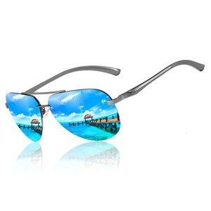 Image 2 - SHARK SEGEL Aluminium Magnesium Männer Sonnenbrille der Männer Polarisierte Beschichtung Spiegel Gläser Oculos Männlichen Brillen Zubehör Für Männer