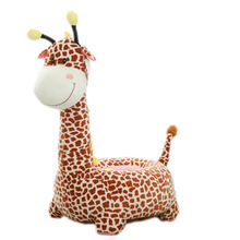 цены Cute Baby Soft Toy Chair Child Cartoon Seat Animal Hippo Giraffe Plush Toy Non-slip Small Sofa Baby Boy Girl Baby Birthday Gift
