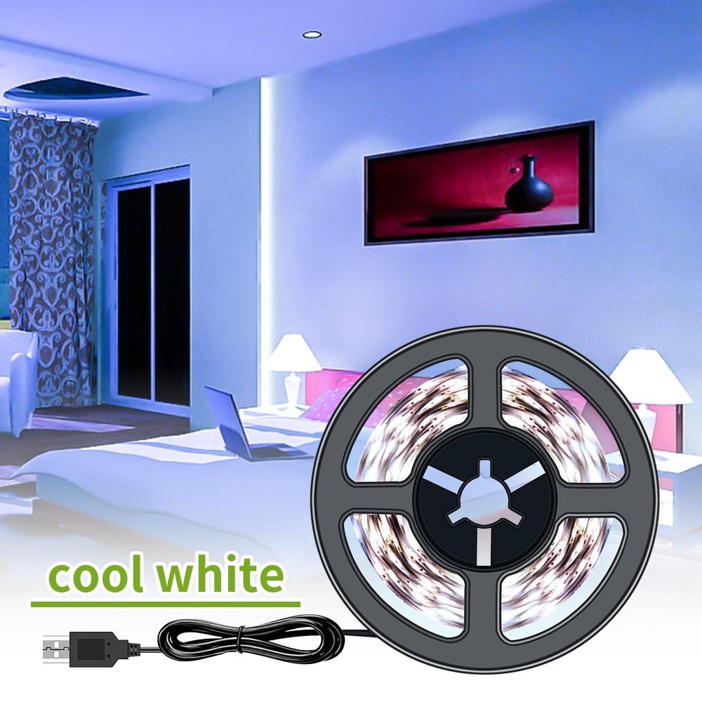 USB Plug 220V Led Strip Light USB 2835 5V LED Strip Flexible TV Background Bias Lighting Living Room Decor Tape Ribbon 0.5M~5M