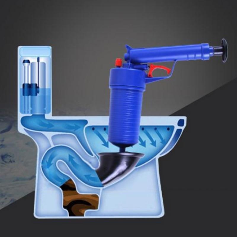 Air Pump Drain Blaster Sink Plunger Bath Toilet Bathroom Pipe Blockage Remover