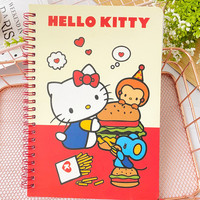 Sanrio hello kitty Bloc de notas melodía Gemini lindo libro cuaderno de dibujos animados Color de la bobina página portátil Bloc de notas