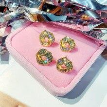 2019 New Fashion Drop Earrings Geometric Oval Heart Square Shell Dangle For Women Hollow Metal Circle Oorbellen