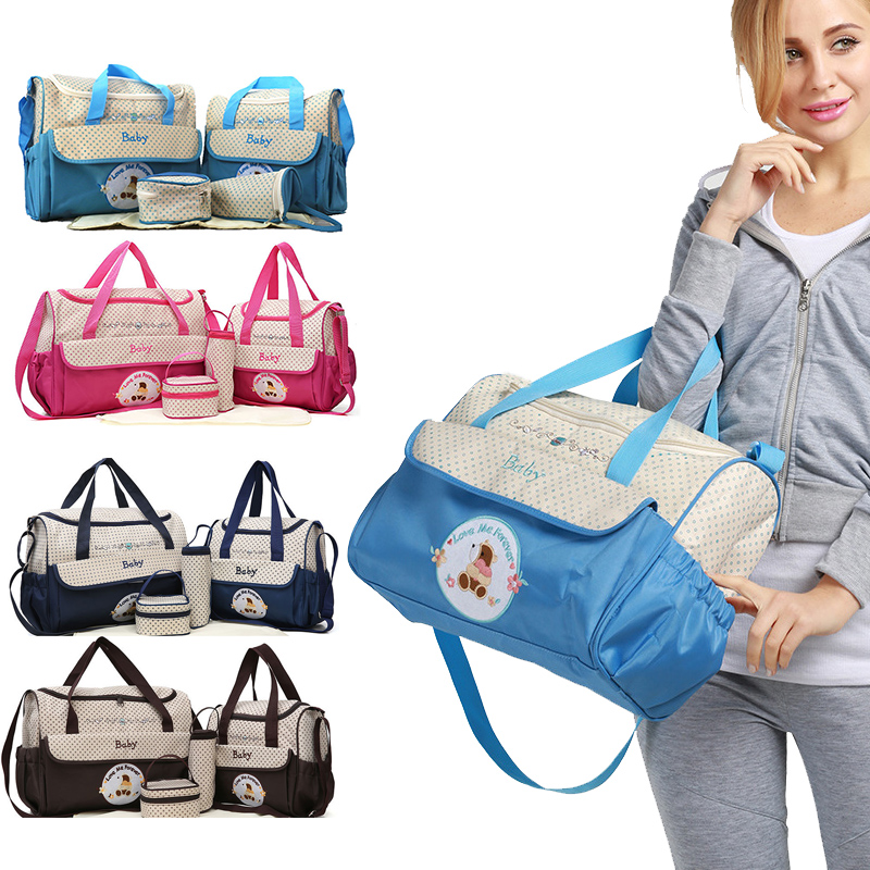 Multifunction Baby Nappy Diaper Bag Baby Bag Nursing Stroller Fashion Maternity Zipper Handbag One Shoulder Bag For Mother Mummy
