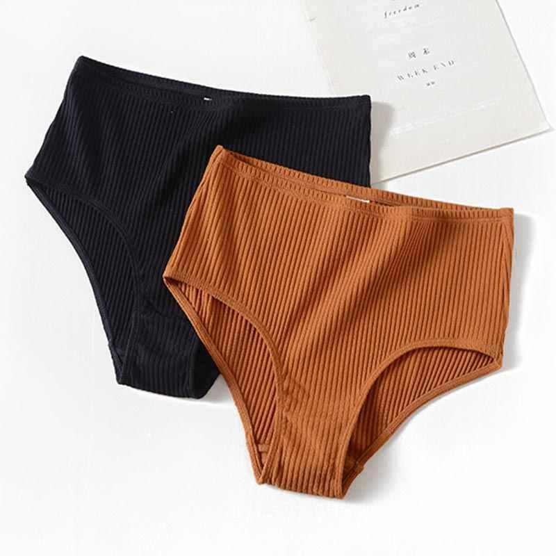 2019 simples não-traço respirável moda feminina listras cueca calcinha high-end marca romântica tentação calcinha