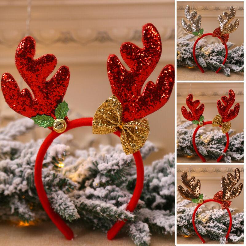 Christmas Headbands Fancy Reindeer Antlers Hairband Xmas Kids Party Decor Hair Accessories