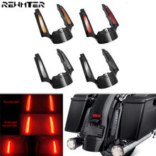 Motorcycle LED Light Rear Fender Fascia Set Turn Signal Tail Lights For Harley Touring 2009-2013 Road King Street Electra Glide