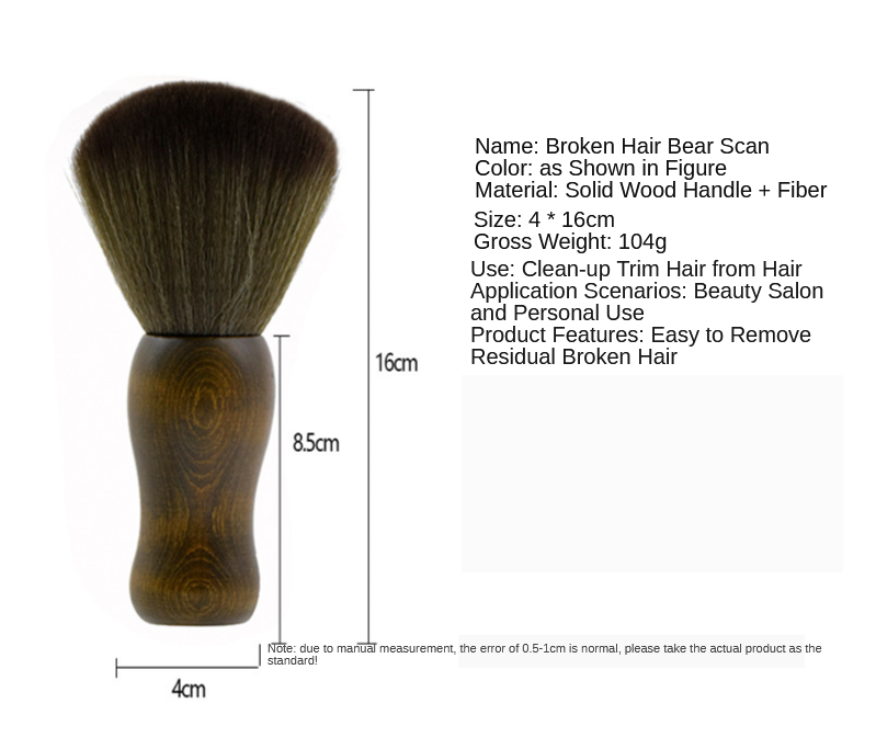 Barbeiro cabeleireiro pescoço espanador escova de limpeza