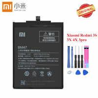 Originale Xiao mi batteria BM47 PER Xiao mi rosso mi 3 3 S 3X3 Pro Rosso mi 4X hong mi 3 S 4 X Li-Ion akku 4000mAh con strumenti Di riparazione Gratuito