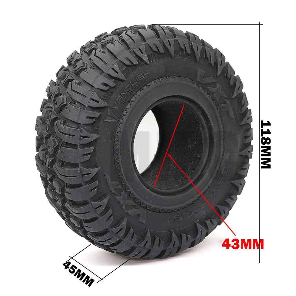 El MJRC de 1,9 pulgadas 118mm de goma de neumáticos de goma para Traxxas 1/10 rock pista Redcat SCX10 II axial de 90046 de 90047 trx-4 RC4WD d90 d110 TF2 RC Coche