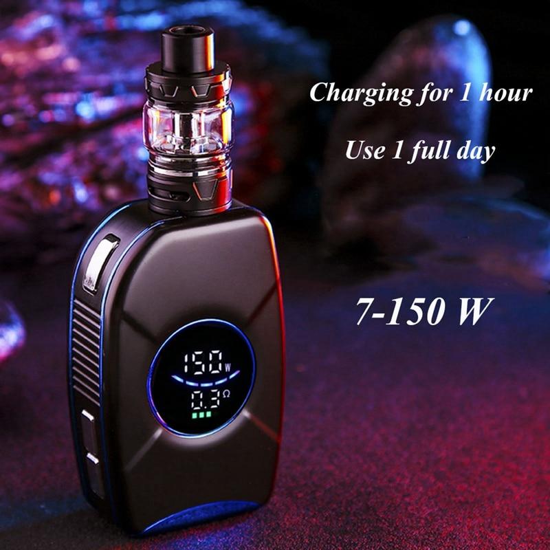 150W Vape Mod Cigarette électronique boîte Kit 2200 MAh batterie intégrée 0.25 Ohm puissance réglable grande fumée E Cigarette atome bleu