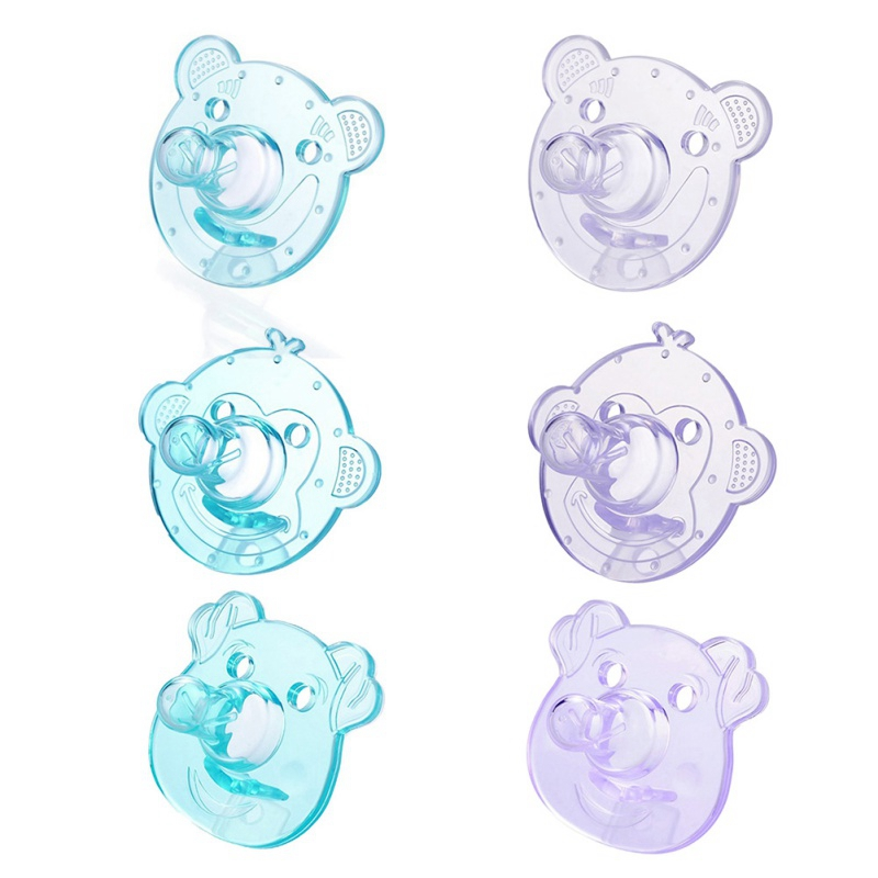 Cute Baby Pacifier Safe Newborn Infant Toddlers Baby Pacifier Silicone Nipple Soother Anti-dust Lid Infant Teethers