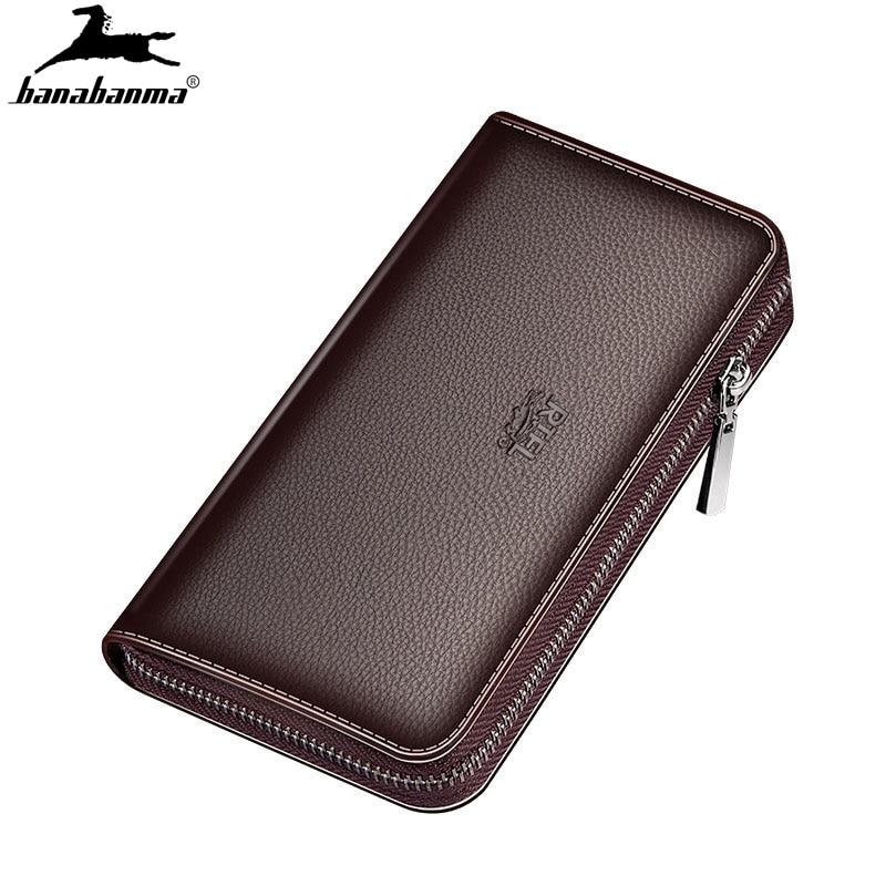 Wallet Men's Natural Leather Clutch Bag Billeteras Para Hombre Men's Wallet Mens Purse Leather Genuine Luxury Portafoglio Uomo