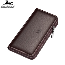 wallet men's natural leather clutch bag billeteras para homb