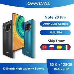 Cubot Note 20 Pro Quad Камера смартфон NFC 6/8 ГБ + 128 Гб 6,5 дюймов 4200 мАч Android 10 Dual SIM телефон 4 аппарат не привязан к оператору сотовой связи celular Note20 Pro