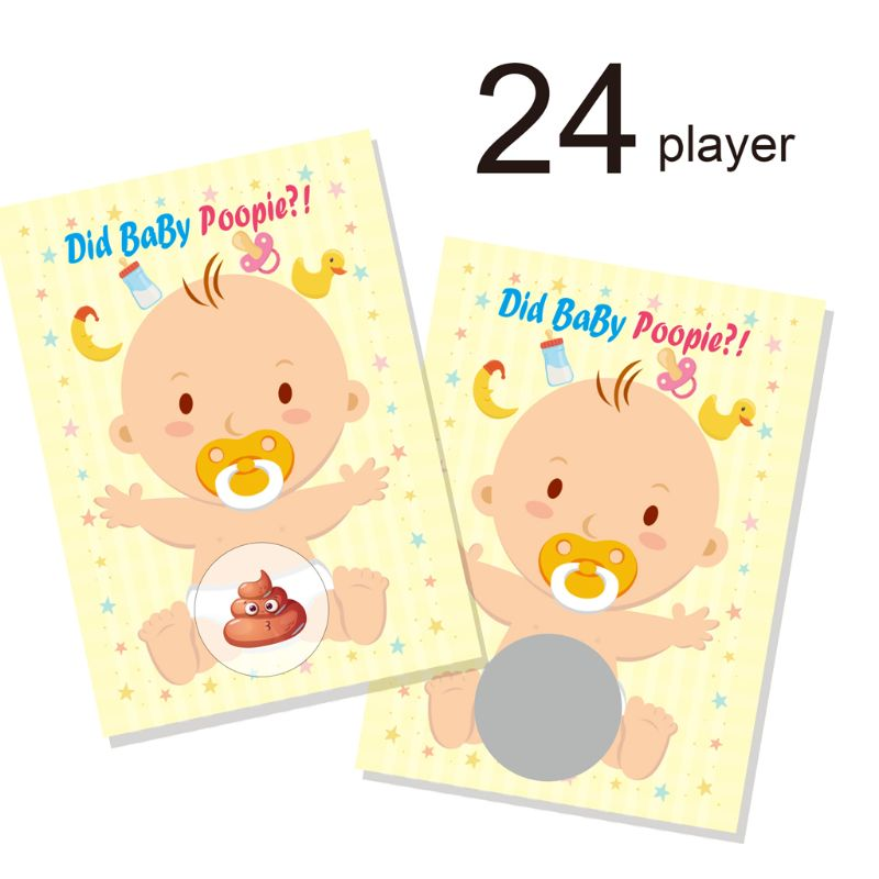 Baby Shower Scratch Off Game Raffle Card Gender Neutral Boy Girl Funny Activity