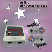 Miniconsola Retro de 16 bits para niños, 167 juegos clásicos, TV, salida AV para Sega SG 167 MD, Mando de juegos familiar, regalo para niños