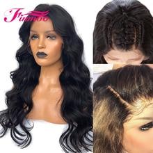 Волнистые 4x4 шелковая основа кружева передние человеческие волосы парики с волосами младенца бразильские волосы remy 13x4 шелковая основа парик шнурка предварительно сорвал волосы Finmoo