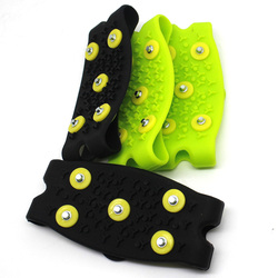 Useful Anti Slip Spikes Grips Crampon Cleats Shoes Cover For Women Men Boots Cover 1 Pair 5-Stud Snow Ice Claw Climbing