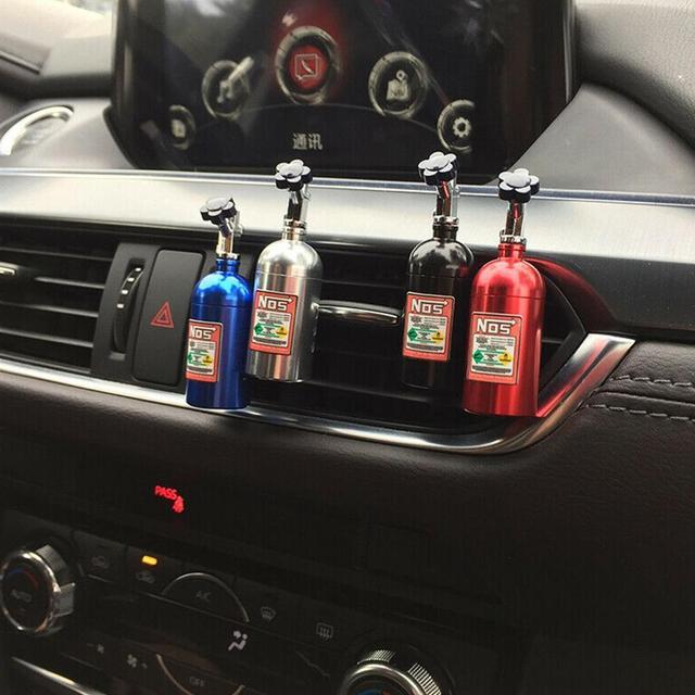 1PCS Car Air Freshener NOS Vent Outlet คลิปน้ำหอมน้ำหอมเติมน้ำมันหอมระเหย Auto กระจายกลิ่นแปลกๆ