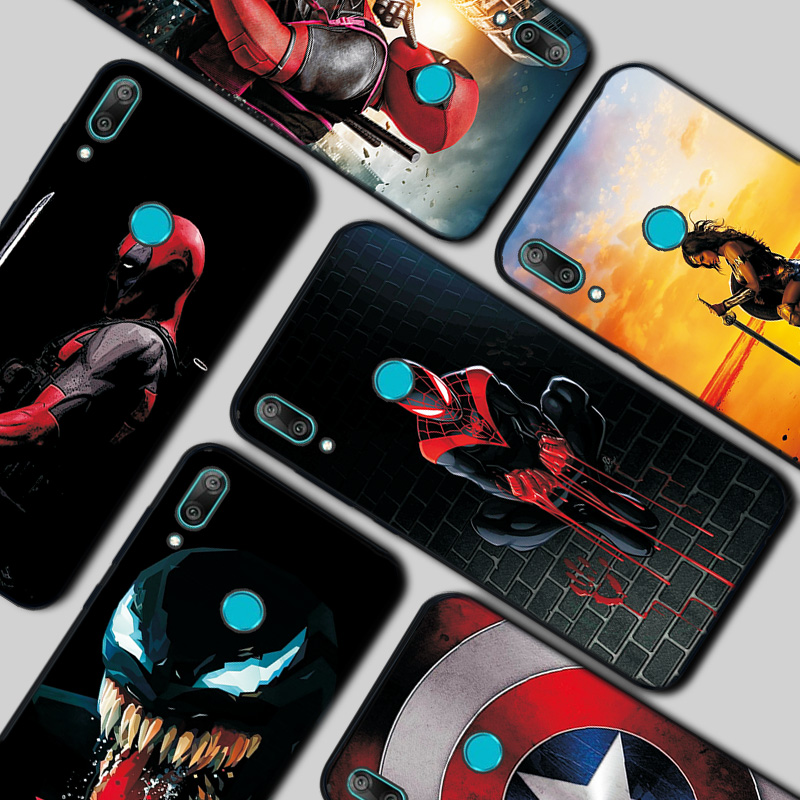 <font><b>Marvel</b></font> Soft Black TPU <font><b>Case</b></font> Coque For <font><b>Huawei</b></font> <font><b>Y7</b></font> <font><b>2019</b></font> Black TPU Funda For <font><b>Huawei</b></font> Y6 <font><b>2019</b></font> <font><b>Case</b></font> For <font><b>Huawei</b></font> Y9 <font><b>2019</b></font> Y5 Y6 2018 Capa image