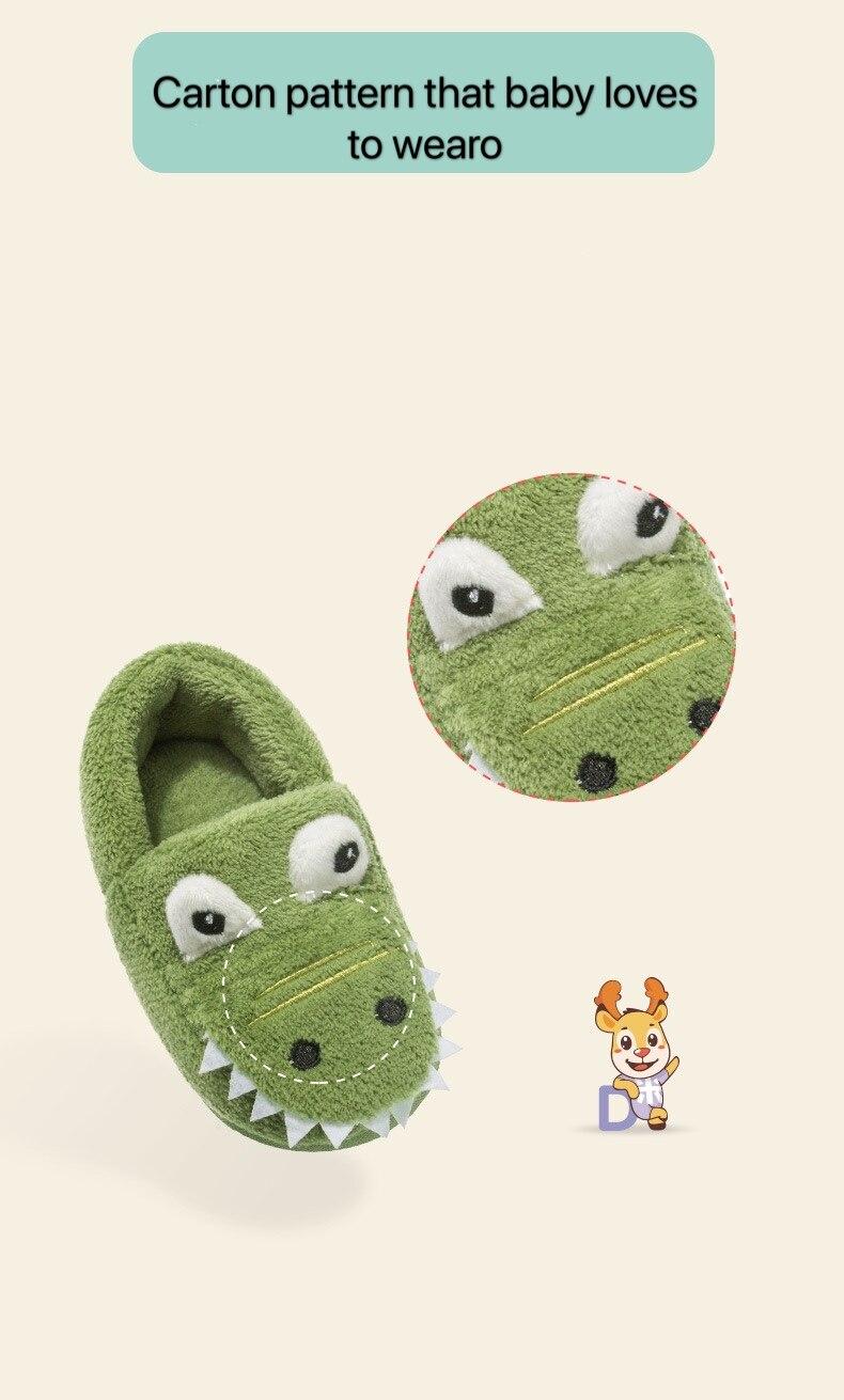 bebê chinelos de algodão crocodilo 1-3 anos