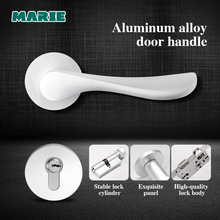 цена на Marie Door Handle Lock Set For Interior Doors Modern Split Lock Cylinder With Keys Bedroom Bathroom Mute Door Handles Universal