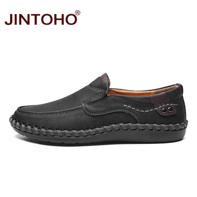 JINTOHO Fashion Brand Men Shoes Men Genuine Leather Shoes Casual Men Shoes Male Leather Shoes Slip On Men Loafers 6