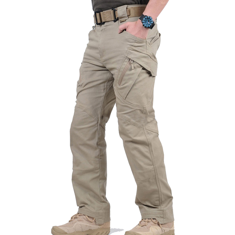 City Tactical Cargo Pants Men Combat Army Military Pants Cotton Many Pockets Stretch Flexible Man Casual Trousers