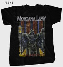 MORGANA LEFAY-Maleficium-de metal progresivo negro T_shirt - SIZESS a 6XL(China)