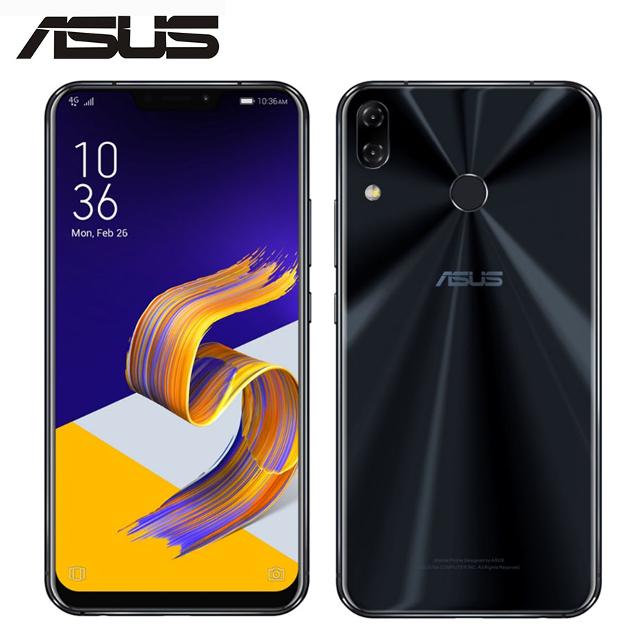 Asus Zenfone 5 ZE620KL смартфон с 6,2-дюймовым дисплеем, восьмиядерным процессором Snapdragon 636, ОЗУ 4 Гб, ПЗУ 64 ГБ, 12 Мп + 8 МП