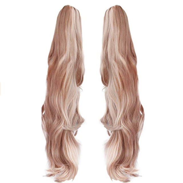 HAIRJOY Synthetic Hair Light Pink Long Straight  Cosplay Wig Costume Party Wigs for Girl