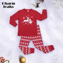 Charmleaks/Детский Рождественский пижамный комплект с длинными рукавами, Новая Рождественская Детская одежда для сна, ночное белье, домашняя одежда, комплект одежды