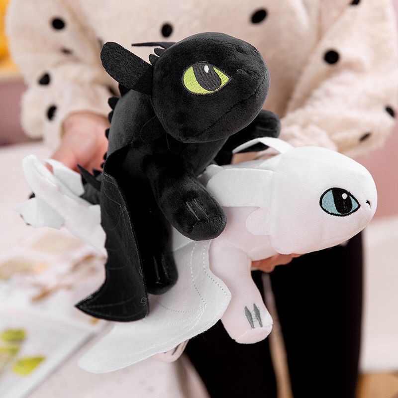 How To Train Your Dragon 3 25cm Toothless Night Fury Light Fury Plush Cute AU Un
