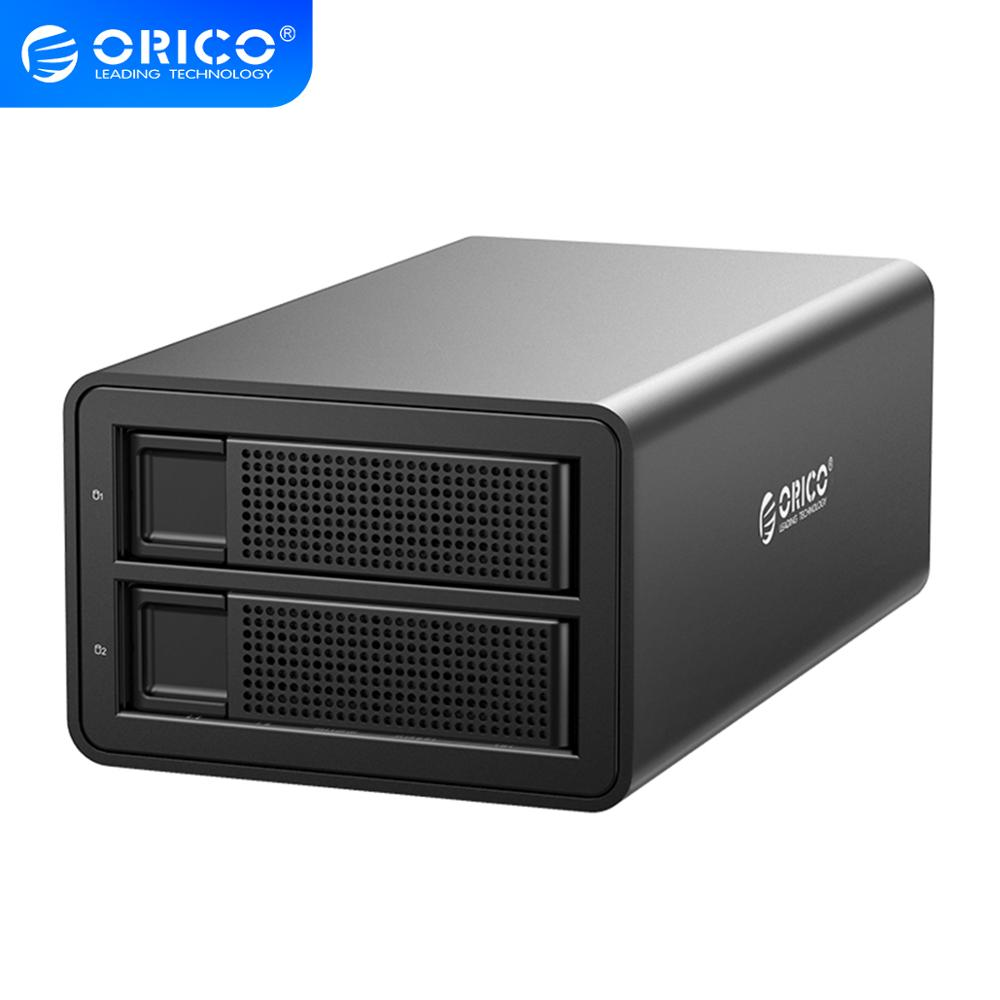ORICO 35 Series 2 bay 3.5'' USB3.0 to SATA With <font><b>RAID</b></font> HDD Docking Station HDD Aluminum HDD <font><b>Enclosure</b></font> 12V3A Power Adapter HDD Case image
