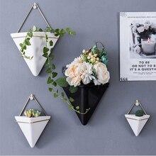 Flower-Pot Vases Wall-Decorations Hanging Nordic Ceramic Living-Room-Decor Home