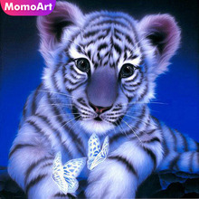 MomoArt 5D Diamond Painting Tiger Kit Full Square Rhinestone DIY Embroidery Animal Cross Stitch Wall Decor Sale Gift