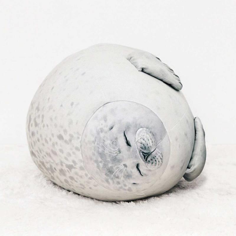 Chubby Blob Seal Plush Animal Toy Cute Ocean Pillow Pet Stuffed Doll Kids Soft Animal Kawaii Valentine Present Gift Pillow Toys
