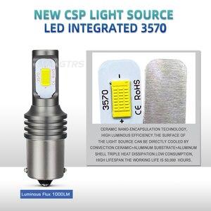 Image 4 - 2x1156 LED ampul BA15S BAY15D 1157 W21W 7440 7443 P21W S25 Canbus 6000K ters işık Back Up kuyruk lambası dönüş sinyali fren lambası