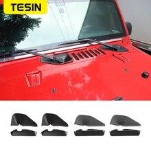TESIN naklejki samochodowe do Jeep JK przednia podstawa wycieraczki dekoracyjny pokrowiec naklejki do Jeep Wrangler JK 2007 2017 akcesoria zewnętrzne do samochodu