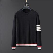 2020 suéter para Hombre Ropa de otoño invierno de los hombres ropa de manga larga Jersey de punto de talla grande de alta calidad Tops estilo coreano