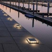 1pcs LED Solar Lamp Outdoors Stair Lamparas Floodlight Decor Lighting  Waterproof Ip68 Sealant Caulk Deck Solar Garden Light цена и фото