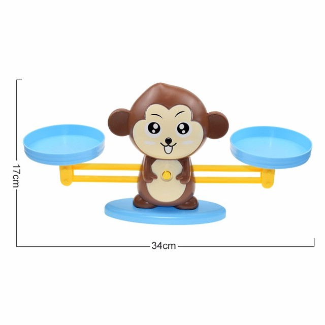 Montessori Math Toy Digital Monkey Balance Scale Educational Math Penguin Balancing Scale Number Board Game Kids Learning Toys 6