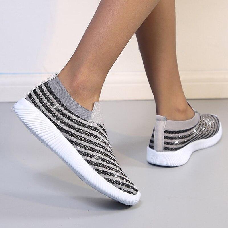 Women Shoes Slip On Women Sneakers 2020 hot Women Vulcanize Shoes Basket Femme Sock Shoes Women Flats Tenis Feminino 43 6