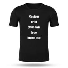 Zaprojektuj własne drukowane logo marki zdjęcia dostosuj męskie i damskie t-shirty i duże rozmiary casual t-shirty spersonalizowana odzież