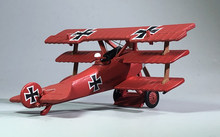 1:72 1/72 Scale German Air Ace WWI Fokker Dr-I Red Baron Fighter Diecast Metal Airplane Plane Aircraft Model Toy(China)